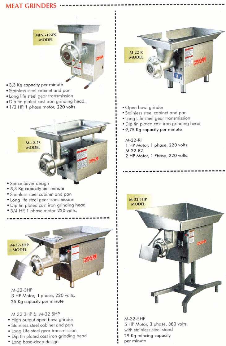 Butchery Kitchen Equipment : MIMA CATERING - Documents & Brochures - Butchery-Equipment catering equipment, kitchen sup